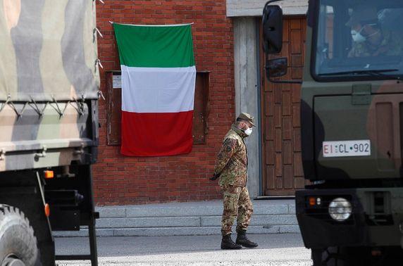 Италийн зарим хотууд гашуудал зарлаж, төрийн далбаагаа бөхийлгөлөө