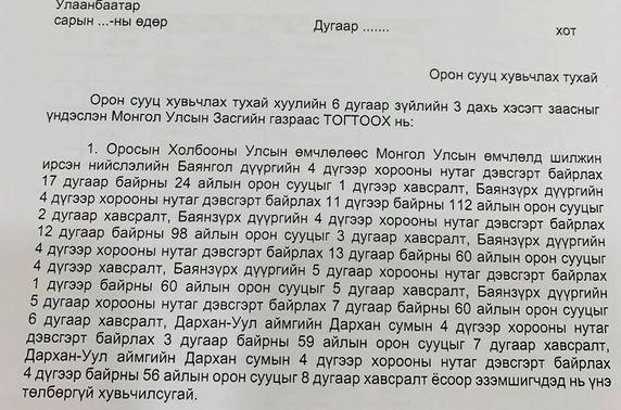 ОХУ-ын өмчлөлд байсан найман байрыг Монгол Улсын өмчлөлд үнэ төлбөргүй шилжүүлж авлаа