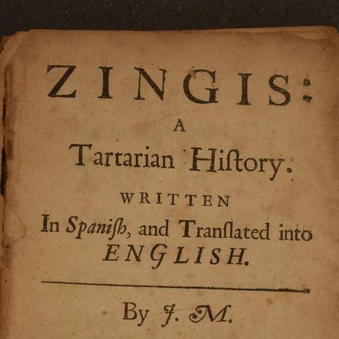 17-р зуунд испани, англи, франц хэлээр гарсан Чингис хааны хайр сэтгэлийн тухай роман