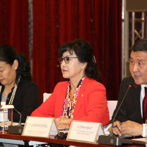 БОАЖ-ын сайд Д.Сарангэрэл Даян дэлхийн ногоон хөгжлийн байгууллагын ерөнхийлөгч Бан Ги Мүүнтэй цахим уулзалт хийлээ