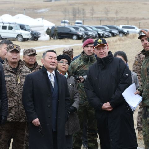 Ерөнхийлөгч Х.Баттулга Монгол-Герман улсын Зэвсэгт хүчний хамтарсан сургалтын үйл ажиллагаатай танилцлаа