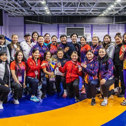 Эмэгтэй тамирчид түүхэнд анх удаа Ази тивдээ багийн дүнгээр тэргүүллээ