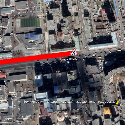 """""""Өлзий"""" төвөөс Авто плазагийн уулзвар хүртэлх авто замыг хэсэгчлэн хаана"""