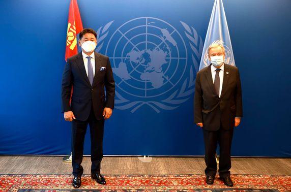 Ерөнхийлөгч У.Хүрэлсүх НҮБ-ын Ерөнхий нарийн бичгийн даргатай уулзлаа
