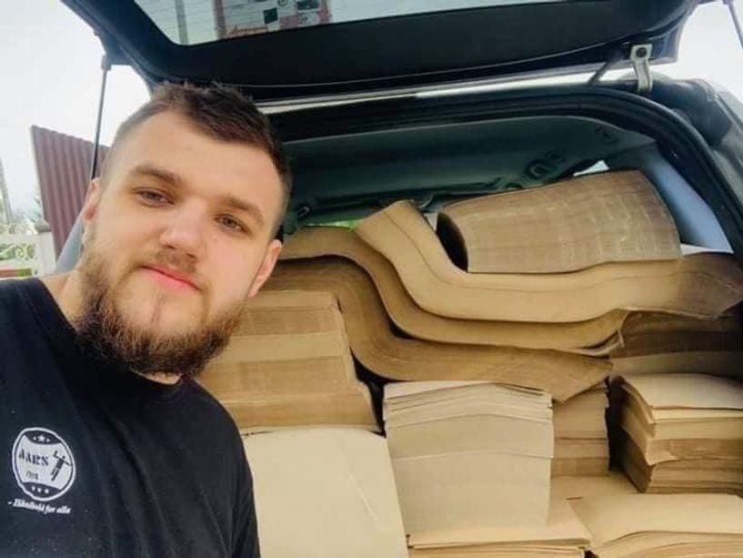 Украинд модны шарласан навчаар цаас үйлдвэрлэж байна